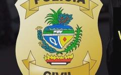Polícia Civil de Pires do Rio prende em flagrante suspeito de prática de crime de furto.