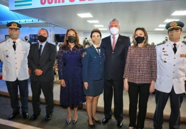 No Dia Nacional do Bombeiro, Caiado celebra promoção da coronel Aline Chadud Matoso, primeira mulher na história a alcançar a mais alta patente