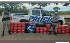 Em Davinópolis-Go,  Batalhão Rural Intercepta carga irregular de bebidas