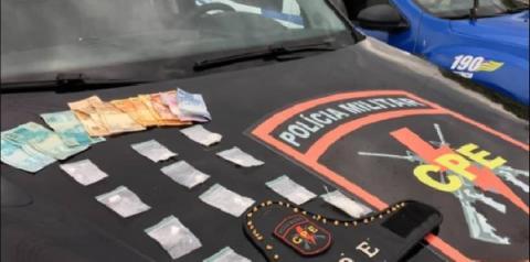 Suspeito de tráfico é  preso pela equipe do CPE, em Campo Alegre de Goiás