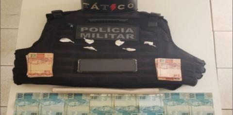 Suspeito de tráfico, é preso pela equipe do Tático Móvel, em Davinópolis-Go
