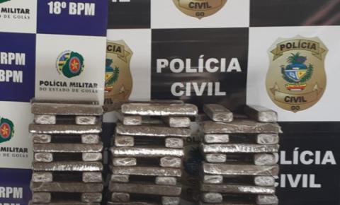 OPERAÇÃO CONJUNTA POLÍCIA CIVIL/GENARC e 18° BPM/GPT PRENDEM 03 TRAFICANTES E RETIRAM 103,5Kg DE MACONHA DAS RUAS DE CATALAO