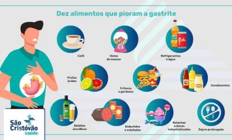 Dez alimentos que pioram a gastrite e são vilões do estômago