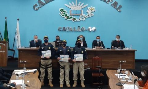 Policiais Rodoviários Federais  recebem homenagem na Câmara Municipal de Catalão