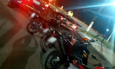PRF interrompe farra com motos na BR 050 em Catalão