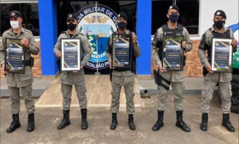 Comando do 18°BPM homenageia destaques operacionais do mês de março,  em Catalão
