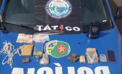 Equipe do Tático Móvel apreende grande quantidade de drogas na cidade de Ouvidor