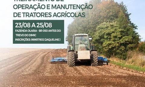 O Sindicato Rural de Catalão realizará curso profissionalizante de Operação e Manutenção de Tratores Agrícolas