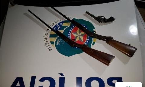Após briga de casal, homem é preso por porte ilegal de arma de fogo em Ipameri