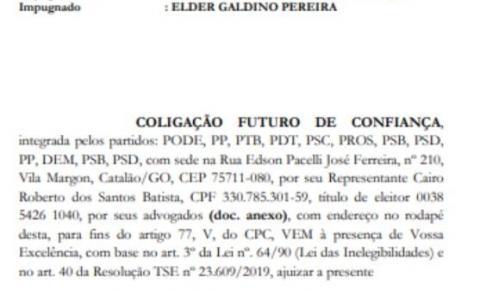 Desesperado com crescimento de Elder Galdino em Catalão, Adib Elias tenta impugnar candidato do MDB