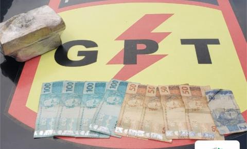 Suspeito de tráfico de drogas é preso pelo GPT em IPAMERI-GO