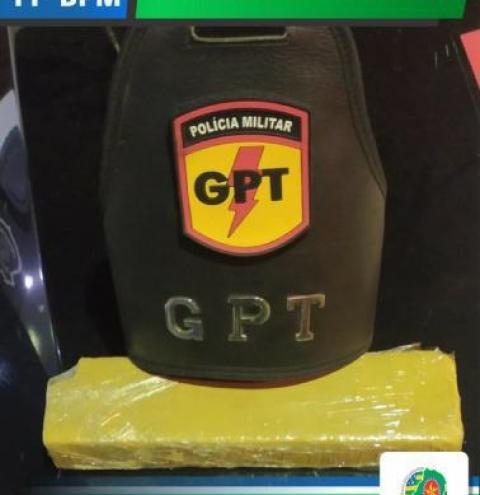GPT intercepta droga que seria revendida na cidade de Pires do Rio