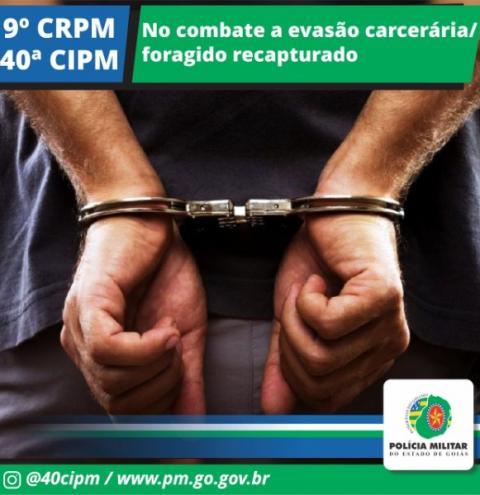 Foragido da justiça é preso pela polícia em IPAMERI-GO